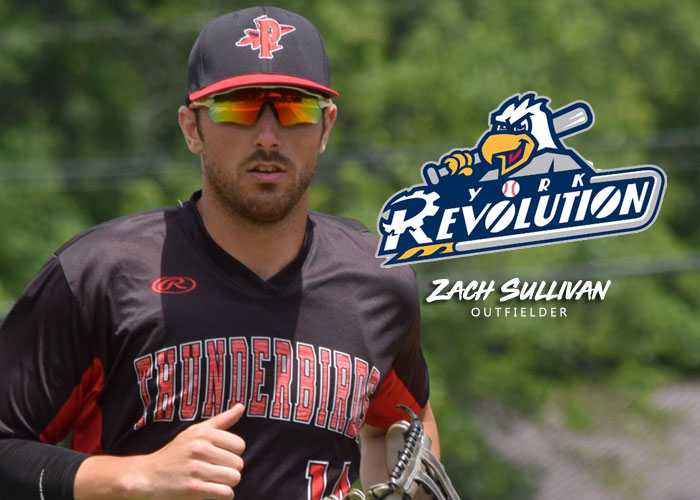 OUTFIELDER ZACH SULLIVAN SENT TO THE YORK REVOLUTION OF THE ATLANTIC LEAGUE